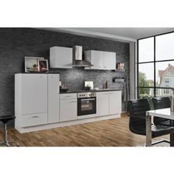 Menke Küchen Küchenzeile White Classic 300 cm, weiß