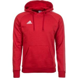 adidas Core 18 Kapuzenpullover Herren rot / weiß M