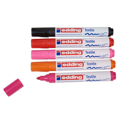 EDDING Textilmarker Textilmarker-Set Brilliant Colours 4500, 5er-Set bunt