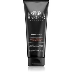 Baylis & Harding Black Pepper & Ginseng Duschgel & Shampoo 2 in 1 250 ml