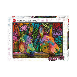 Huch! Puzzle Puzzle Jolly Pets Donkey Love, 1.000 Teile, Puzzleteile