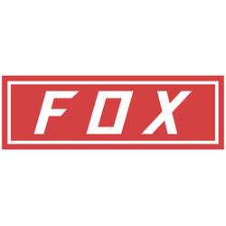 FOX Bumper Sticker, rot
