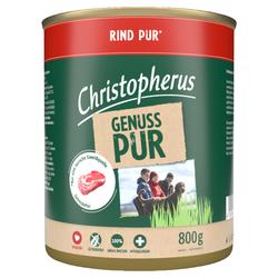 (4,12 EUR/kg) Christopherus Pur Rind 800 g - 6 Stück