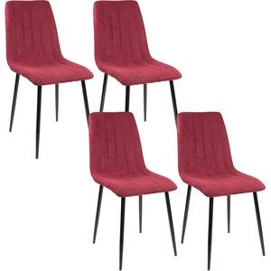 Esszimmerstühle GARDA, 4-er Set, rot