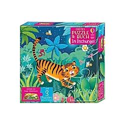 Erstes Puzzle & Buch: Im Dschungel