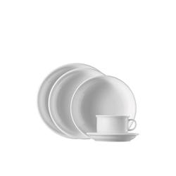 Thomas Porzellan Single Geschirr-Set Trend Weiß Starter-Set 5-tlg. (5-tlg), Porzellan