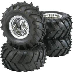 Reely 1:10 Monstertruck Kompletträder Traktor 5-Speichen Chrom 4St.
