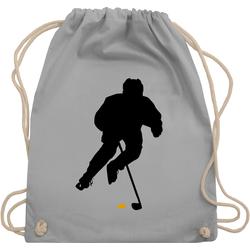 Shirtracer Turnbeutel Eishockey Spieler - Eishockey - Turnbeutel