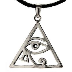Kiss of Leather Kettenanhänger Auge des Horus 925 Silber Anhänger Schutz Amulett Horusauge Dreieck