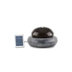 blumfeldt Gartenbrunnen Ocean Planet Solarbrunnen 200l/h Solarpanel 2W Akku LED Polyresin, 49 cm Breite