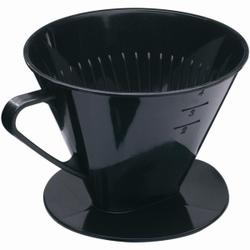 WESTMARK Four Kaffeefilter , Hochwertiger und schwer zerbrechlicher Kaffeefilter in schwarz, Größe: 15,7 x 13,2 x 11,0 cm
