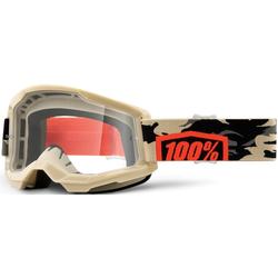 100% Strata II Kombat Motocross Brille, braun-beige
