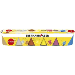 Schulmalfarbe Efacolor Tempera Töpfe 25ml VE=6 Farben metal