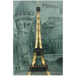 LED Wand Leucht Bild Eiffelturm Dekoration Paris Postkarte Effekt Beleuchtung Globo 28384