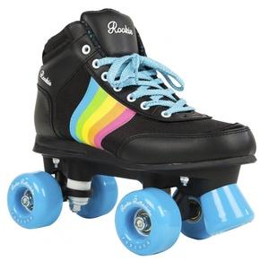 Rookie Forever Rainbow V2 Rollschuhe mit 4 Rollen, Unisex, für Kinder 38 Schwarz/Multicolor