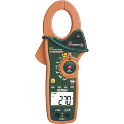 Extech EX810 Stromzange, Hand-Multimeter digital IR-Thermometer CAT III 600V Anzeige (Counts): 4000