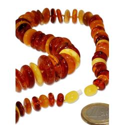 Adelia´s Kette ohne Anhänger Bernstein Halskette 55 cm
