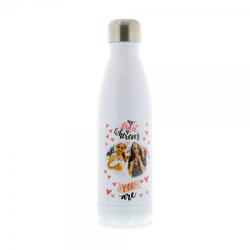 Isolierte Trinkflasche aus Edelstahl mit individuellem Farbdruck