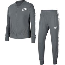 Nike Sportswear Trainingsanzug GIRLS NIKE SPORTSWEAR TRACK SUIT TRICOT (Set, 2 tlg.) grau Kinder Mädchen Sportbekleidung