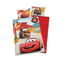 Bettwäsche Wende- Kinderbettwäsche Disney Cars, Renforcè, 100, Herding rot