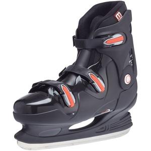 Nijdam Herren Eishockeyschlittschuhe, Schwarz/Rot, 44, 1010690