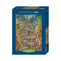 HEYE Puzzle Puzzle Protest! Degano, 2000 Teile, Puzzleteile