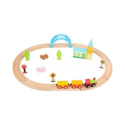 Small Foot Spielzeug-Eisenbahn Holzeisenbahn Stadt und Land