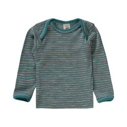 Engel Unterhemd Baby Unterhemd für Jungen Wolle/Seide grau 98/104