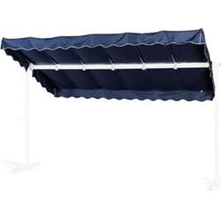 Grasekamp Ersatzdach Standmarkise Dubai Blau  Raffmarkise Ziehharmonika Mobile Markise