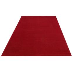Teppich Paddy, my home, rechteckig, Höhe 7 mm, Uni Teppich rot 80 cm x 150 cm x 7 mm
