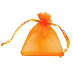 10 x Organzasäckchen Organzabeutel Schmuckbeutel Organza orange