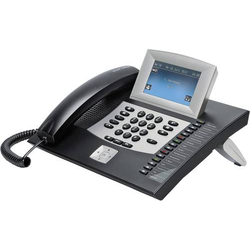 Auerswald COMfortel 2600 Systemtelefon, ISDN Anrufbeantworter, Headsetanschluss Touch-Display Schwar