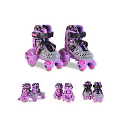 Byox Rollschuhe Rollschuhe Beetle Größe XS 26-29, PU-Rollen, ABEC-5 Lager, Stopper hinten lila