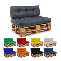Easysitz Sitzkissen Palettenkissen Set, 120 x 80 cm für Europaletten grau