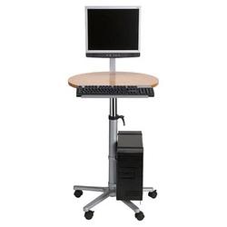 MAUL Profi höhenverstellbarer PC-Tisch braun, grau