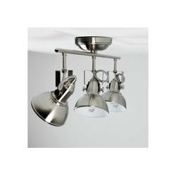 Licht-Erlebnisse Deckenstrahler GINA Wandlampe Retro Nickel drehbar Strahler Deckenleuchte Lampe