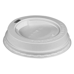 100 PAPSTAR Kaffeebecher-Deckel Kunststoff