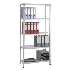 Grundregal »Multiplex 5 OH« 80 x 35 cm grau, SZ Metall, 80x180x35 cm