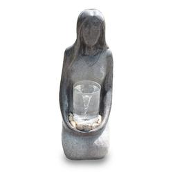 Kiom Dekoobjekt Gartenbrunnen FoDonna mit Wasserstrudel 68 cm