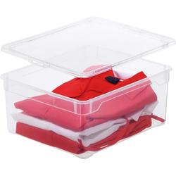 Rotho Aufbewahrungsbox Rotho Clear Box - 18 L - Sweater (1 Stück)