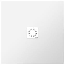 HAK Eckwanne FLEXIA Gussmarmor-Duschwanne, 80x80x3 cm