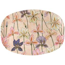 """rice Servierplatte Melamin Servier-Teller """"Iris"""" 30 x 22 cm"""