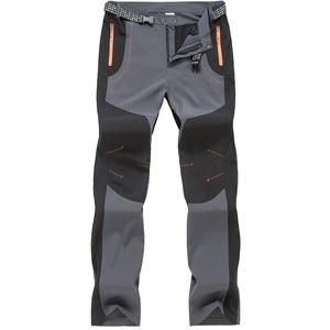 donhobo Wanderhose Herren Zip Off Wasserdicht Schnelltrocknend Outdoorhose Trekking Hosen Funktionshose (Grau, 30)