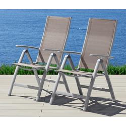 MERXX Gartenstuhl Amalfi Alu/Textil, verstellbar