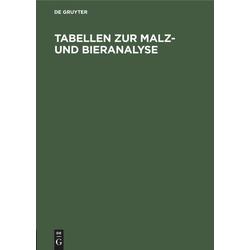 Tabellen zur Malz- und Bieranalyse als Buch von Doemens