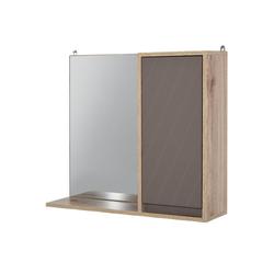 HOMCOM Spiegelschrank Spiegelschrank mit Ablage