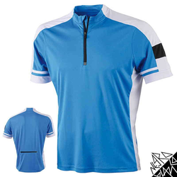 Herren Radtrikot / Fahrradtrikot | James & Nicholson blau S