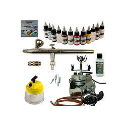 Airbrush-City Druckluftwerkzeug Modellbau Airbrush Set - Ultra Airbrushpistole + Saturn 25 Kompressor - Kit 9007, (1-St)