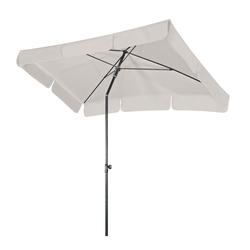 Gartenschirm / Sonnenschirm rechteckig Doppler weiß