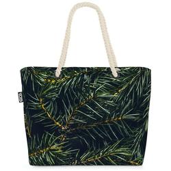 VOID Strandtasche (1-tlg), Tannenzweig Advent Winter Beach Bag Tannenzweig Tanne Tannenbaum Pflanzen Baum